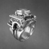 STERLING SILVER - 400 SMALL BLOCK ENGINE-RING TSH-220- APJ