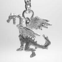 STERLING SILVER-DRAGON PENDANT