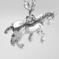 STERLING SILVER-FARM ANIMALS - HORSE