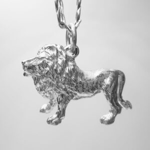 STERLING SILVER SAFARI ANIMALS -        LION PENDANT
