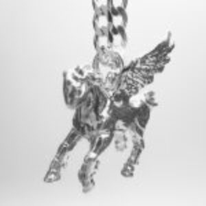 AMAZON-PEGASUS-TSH-DR-807 STERLING SILVER PENDANT COMING FORWARD DSC01951