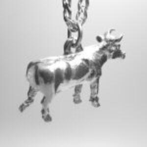 STERLING SILVER FARM ANIMALS - STEER PENDANT