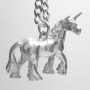 STERLING SILVER-UNICORN PENDANT