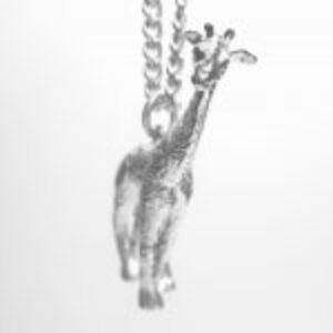 STERLING SILVER SAFARI ANIMALS - GIRAFFE PENDANT