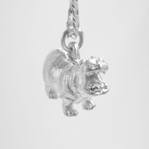 STERLING SILVER SAFARI ANIMALS  - HIPPO PENDANT