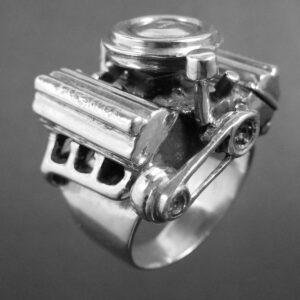 STERLING SILVER (92.5)-CHRYSLER 313 1956 ENGINE RING