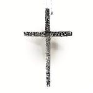 STERLING SILVER- TEXTURED CROSS