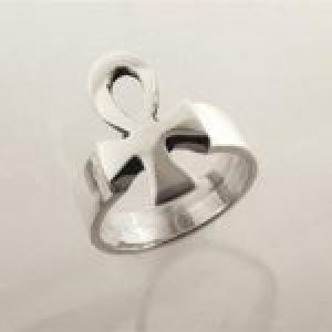 STERLING SILVER - ANKH CROSS RING
