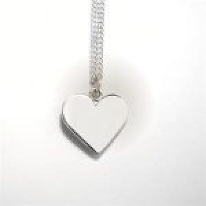 STERLING SILVER - SOLID HEART PENDANT