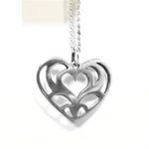 STERLING SILVER LACE HEART PENDANT