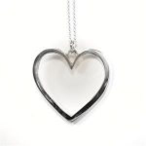STERLING SILVER - LARGE HEART PENDANT