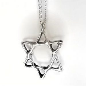 STERLING SILVER - SIX POINT ABSTRACT STAR PENDANT