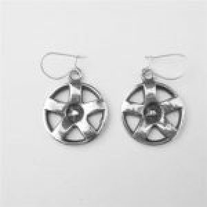 STERLING SILVER-MAG WHEEL EAR RING WIRES TSH-103-APJ-MWP