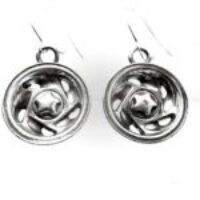 STERLING SILVER- MAG WHEEL EAR RINGS W/ WIRES(92.5)   TSH-101-APJ-MWEW
