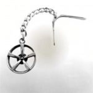 STERLING SILVER (92.5)-MAG WHEEL KEY CHAIN