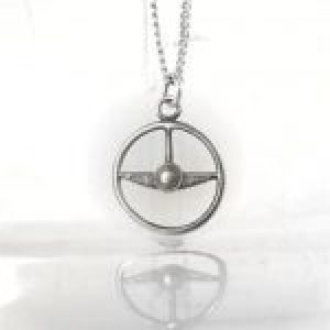 STERLING SILVER-STEERING WHEEL PENDANT