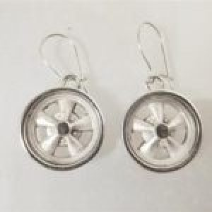 STERLING SILVER (92.5) - MAG WHEEL EAR RINGS W/WIRES