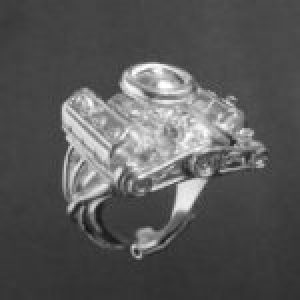STERLING SILVER (92.5)- CHRYSLER 426 ENGINE RING