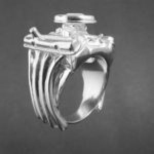 STERLING SILVER (92.5) - DODGE 440  ENGINE RING