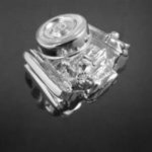 STERLING SILVER(92.5) - DODGE 383 ENGINE RING  W/ AIR CLEANER