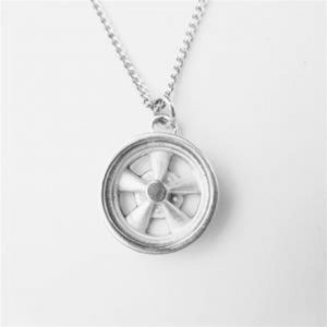 STERLING SILVER (92.5)-MAG WHEEL PENDANT