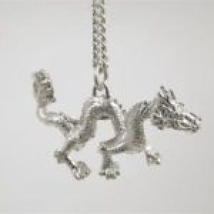 STERLING SILVER-DRAGON PENDANT