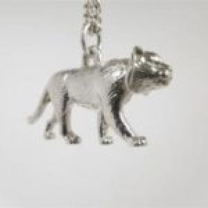 STERLING SILVER SAFARI ANIMALS TIGER PENDANT