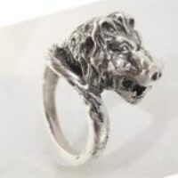 STERLING SILVER - LION HEAD RING   TSH-CJ-303
