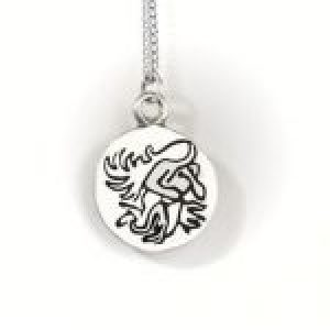 STERLING SILVER-AQUARIUS PENDANT