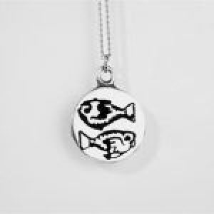 STERLING SILVER-PISCES PENDANT
