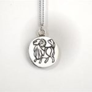 STERLING SILVER - ARIES ZODIAC PENDANT