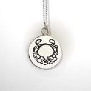 STERLING SILVER-CANCER PENDANT