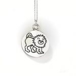 STERLING SILVER-LEO PENDANT