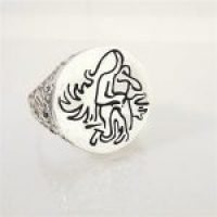 STERLING SILVER-AQUARIUS RING