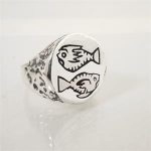 STERLING SILVER-PISCES RING