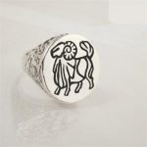 STERLING SILVER-ARIES RING