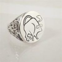 STERLING SILVER -TAURUS RING