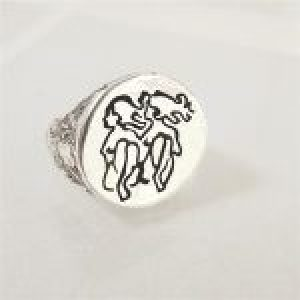 STERLING SILVER-GEMINI RING