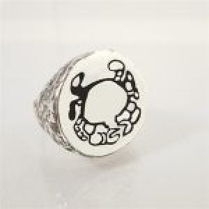 STERLING SILVER-CANCER RING