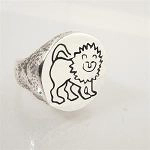 STERLING SILVER-LEO RING