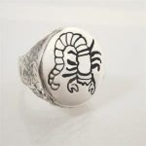 STERLING SILVER-SCORPIO RING