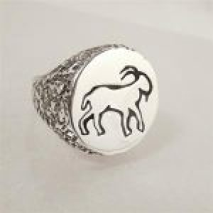 STERLING SILVER-CAPRICORN RING