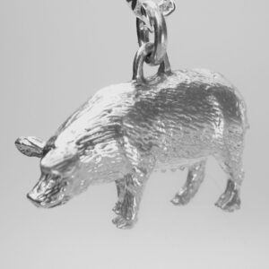 STERLING-SILVER-FARM ANIMALS             PIG