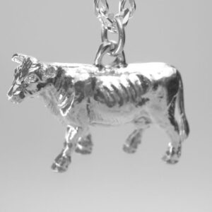 STERLING SILVER-FARM ANIMALS - COW PENDANT