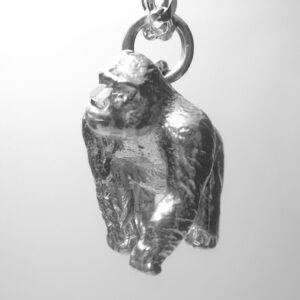 STERLING SILVER-SAFARI ANIMALS-GORILLA