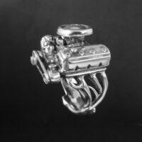 STERLING SILVER(92.5) - DODGE 426 ENGINE RING