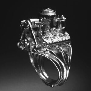 STERLING SILVER(92.5)FORD FLAT HEAD ENGINE RING